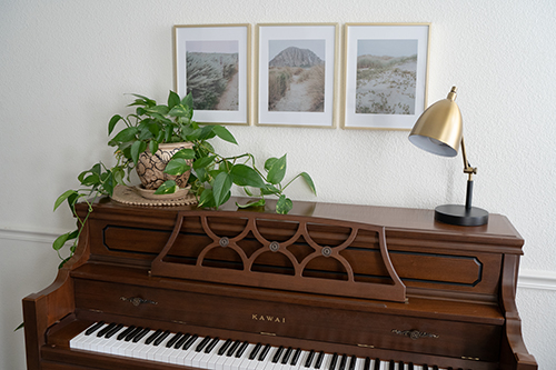 fine art photography framed piano home